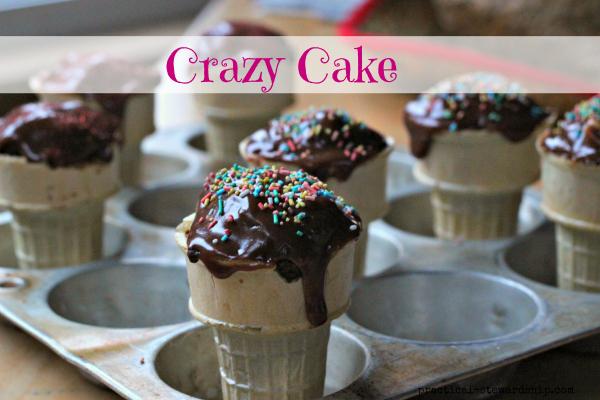 Crazy Cake, D-F, Vegan, Egg-free