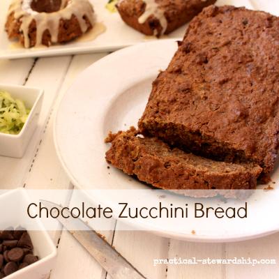 Double Chocolate Yogurt Zucchini Bread