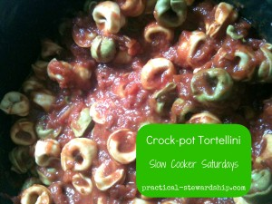 Crock-Pot Tortellini w Cheese