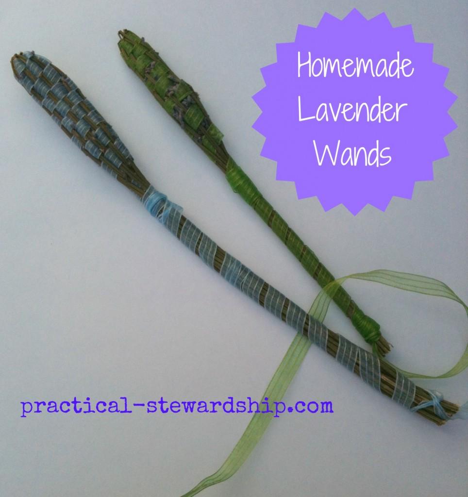 Homemade Lavender Wands