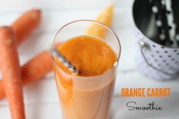 Orange Carrot Smoothie with Straws