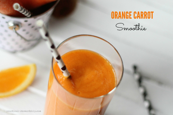 Orange Carrot Smoothie with Straws