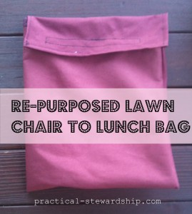 Re-purposed Lawn Chair to Lunch Bag