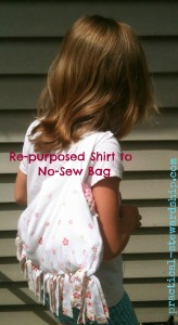 Re-purposed Shirt to No-Sew Bag