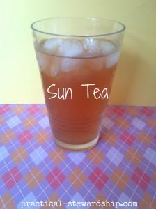 Sun Tea Recipe