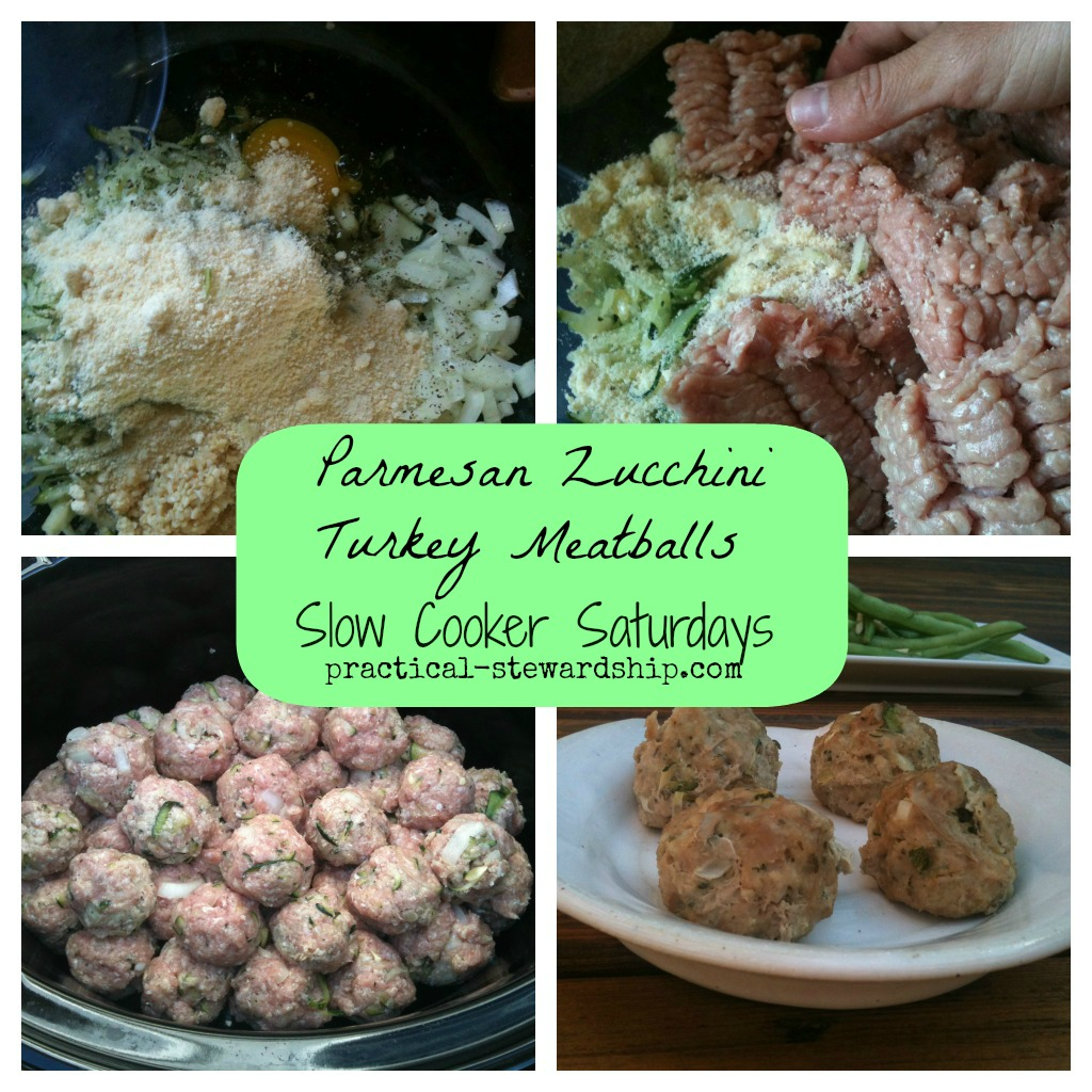 Crock-pot or Not Parmesan Zucchini Turkey Meatballs Collage