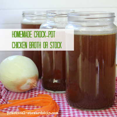 Homemade Crock-pot Chicken Broth or Stock