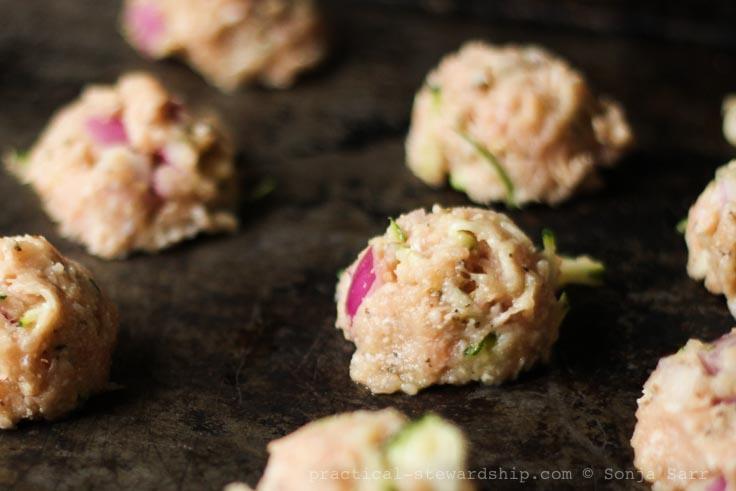 Parmesan Zucchini Turkey Meatballs-2