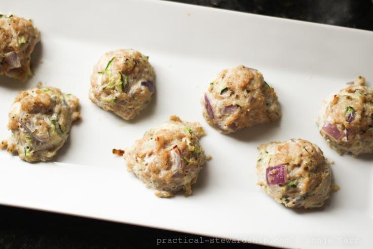 Parmesan Zucchini Turkey Meatballs-3