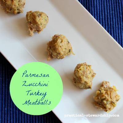 Parmesan Zucchini Turkey Meatballs