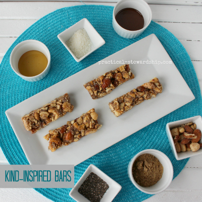 Kind inspired bars with ingredients