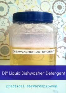 Liquid Dishwasher Detergent @ practical-stewardship.com