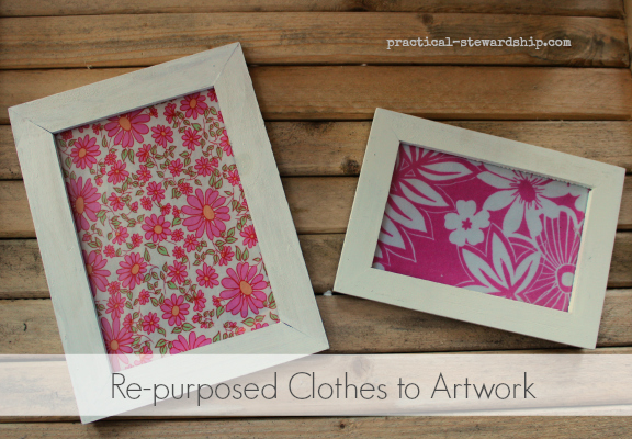 Re-purposed Clothes to Artwork
