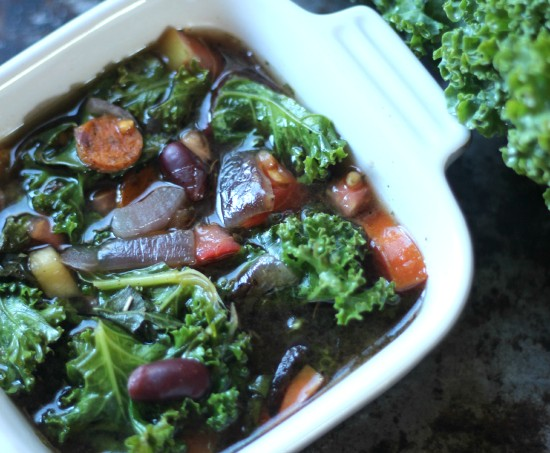 Crock-pot Kale & Squash Soup