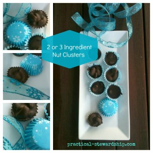 3 Ingredient Chocolate Nut Clusters Collage