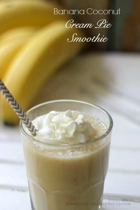 Banana Coconut Cream Pie Smoothie