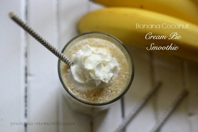 Banana and Coconut Cream Pie Smoothie