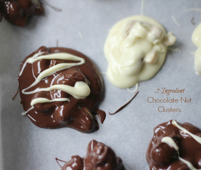 2 Ingredient  Chocolate Nut Clusters
