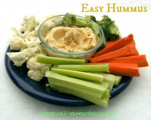 Easy Hummus @ practical-stewardship.com
