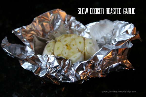 Slow Cooker Roasted Garlic, Raw