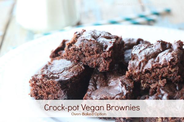 Crock-pot Vegan Brownies