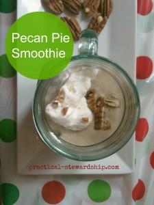 Pecan Pie Smoothie @ practical-stewardship.com