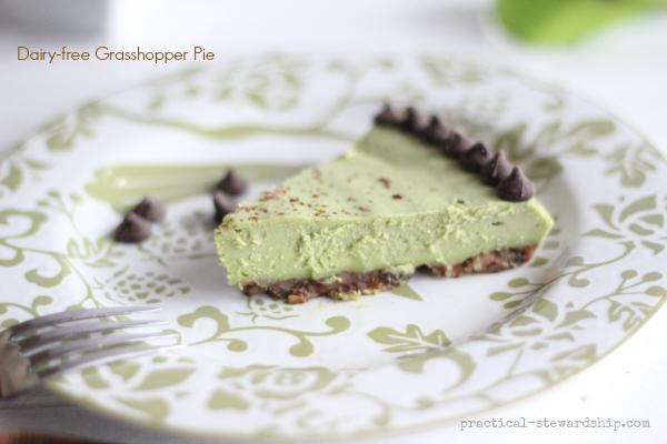 Dairy-free Grasshopper Pie