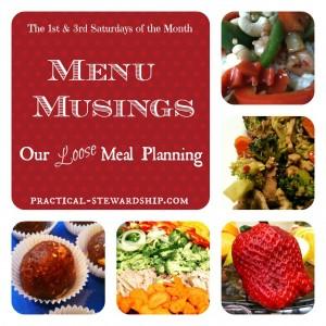 Menu Musings Loose Meal Planning