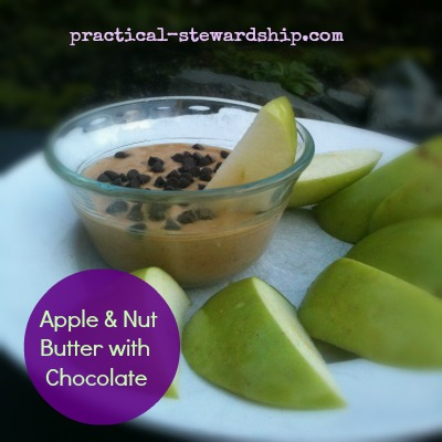 Apple & Nut Butter with Chocolate