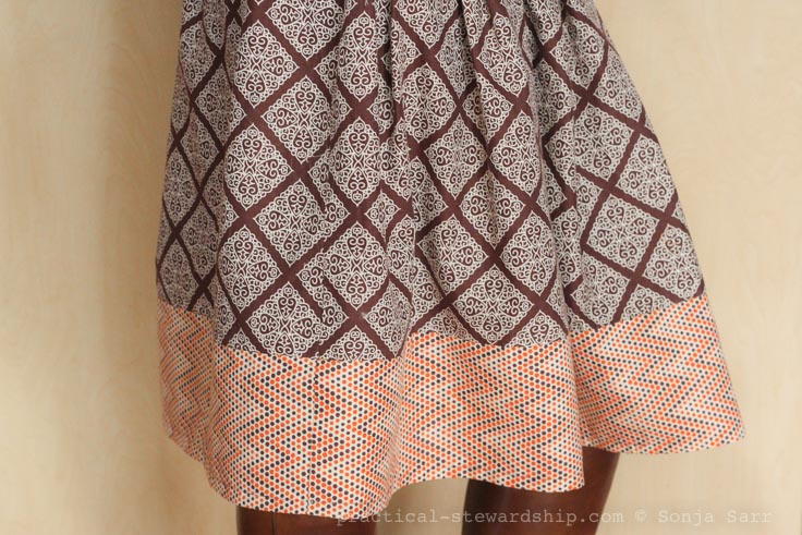 Easy Elastic Waist Skirt Tutorial Practical Stewardship