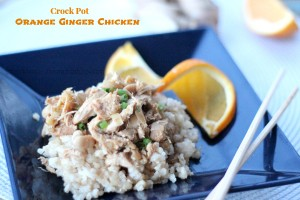 Crock pot Orange Ginger Chicken