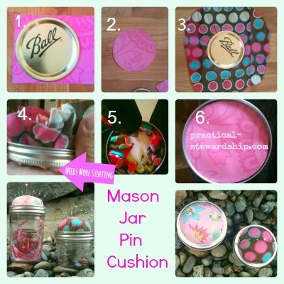 MASON Jar Pin Cushion Tutorial Collage