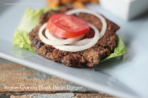 Quinoa Black Bean Burger, Vegan Friendly