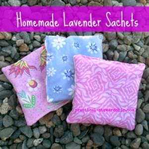 Easy Homemade Lavender Sachets