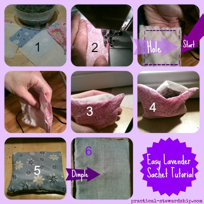 Easy Lavender Sachet Collage w numbers