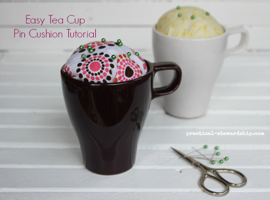 Easy Tea Cup Pin Cushion Tutorial