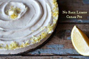 No Bake Lemon Cream Pie, G-f, D-f, V opt.