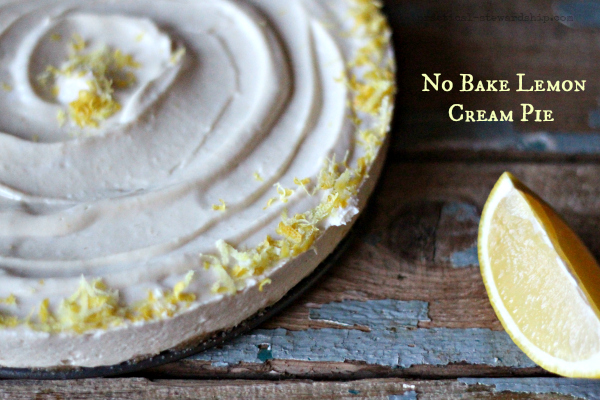 No Bake Lemon Cream Pie, G-f, D-f, V opt.