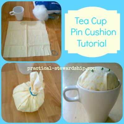 Tea Cup Pin Cushion Collage