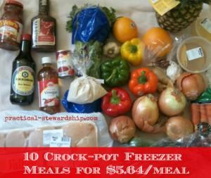 10 Crock-pot Freezer  Meals for $5.64/meal