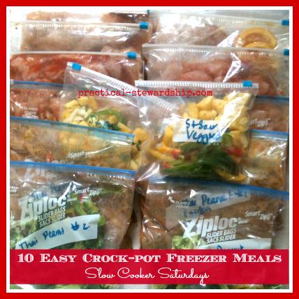 10 Easy Crock-pot Chicken Freezer Meals