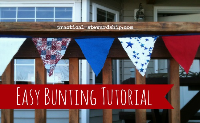 Fast and Easy Patriotic Bunting Tutorial