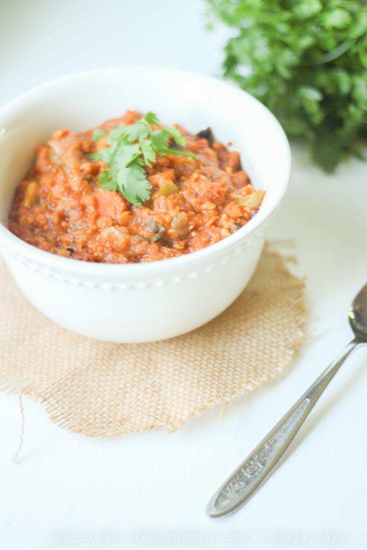 Crock-pot Lentil Vegetable Chili-1
