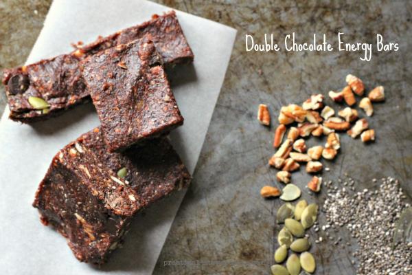 Double Chocolate Date Energy Bars, Raw, Vegan, Gluten-free