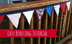 Easy Bunting Tutorial @ practical-stewardship.com
