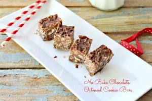No Bake Chocolate Oatmeal Cookie Bars