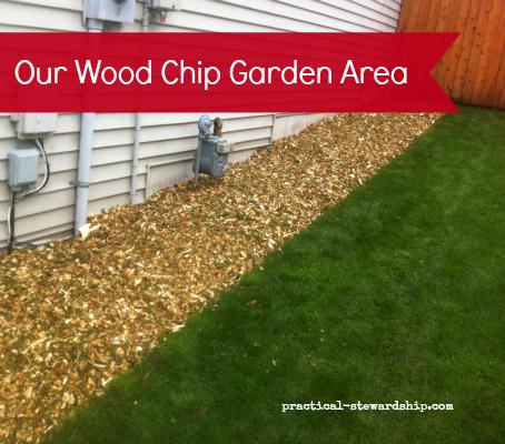 Wood Chip Garden Area