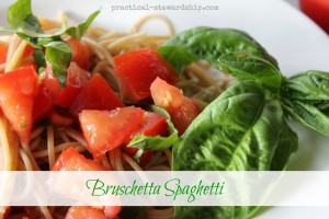 Bruschetta Spaghetti or Raw Tomato Sauce
