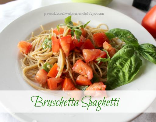Bruschetta Spaghetti, Raw Sauce