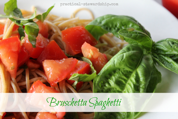 Bruschetta Spaghetti or Raw Tomato Sauce